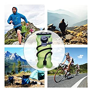 Hydration Bladder 3L/ 100 Oz (Green), BONL Emerald Water Reservoir 3-Litre w/ Cleaning Kit, Military Class Quality, Wide-Opening,Shutoff Valve, Best for Hiking,Cycling,Climbing,Hydro Backpack,Outdoors