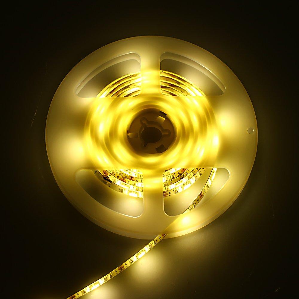 PUAO SMD5050 - Tira de luz LED para televisor (LED, luz de fondo, tira USB, luz trasera, iluminación para TV, escritorio, ordenador, pecera, decoración del ...