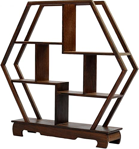 NWFashion Chinese Wooden Assemble Display Stand Home Decoration Curio Cabinets Shelf 1