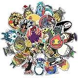 Cute Cartoon Stickers Pack 50Pcs Japan Miyazaki Hayao Anime Waterproof Vinyl Laptop Stickers for Luggage Guitar Bike Car Skateboard Graffiti Decals... (50Pcs)