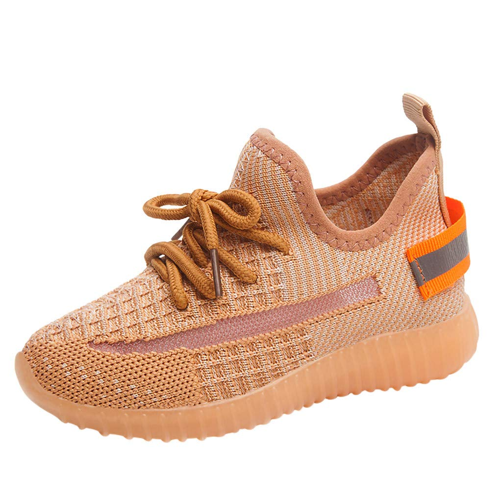 Tantisy ♣↭♣ Kids LED Shoes Lights Up Sneakers Boys Girls Mesh Sport Shoes Fashion Athletic Shoes Christmas Party Dancing Yellow