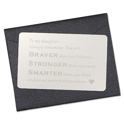 Vanfeis Metal Engraved Wallet Mini Love Note Insert Card
