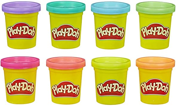 Play-Doh, color surtido, Pack 8 Botes (Hasbro E5044EU4): Amazon.es: Juguetes y juegos