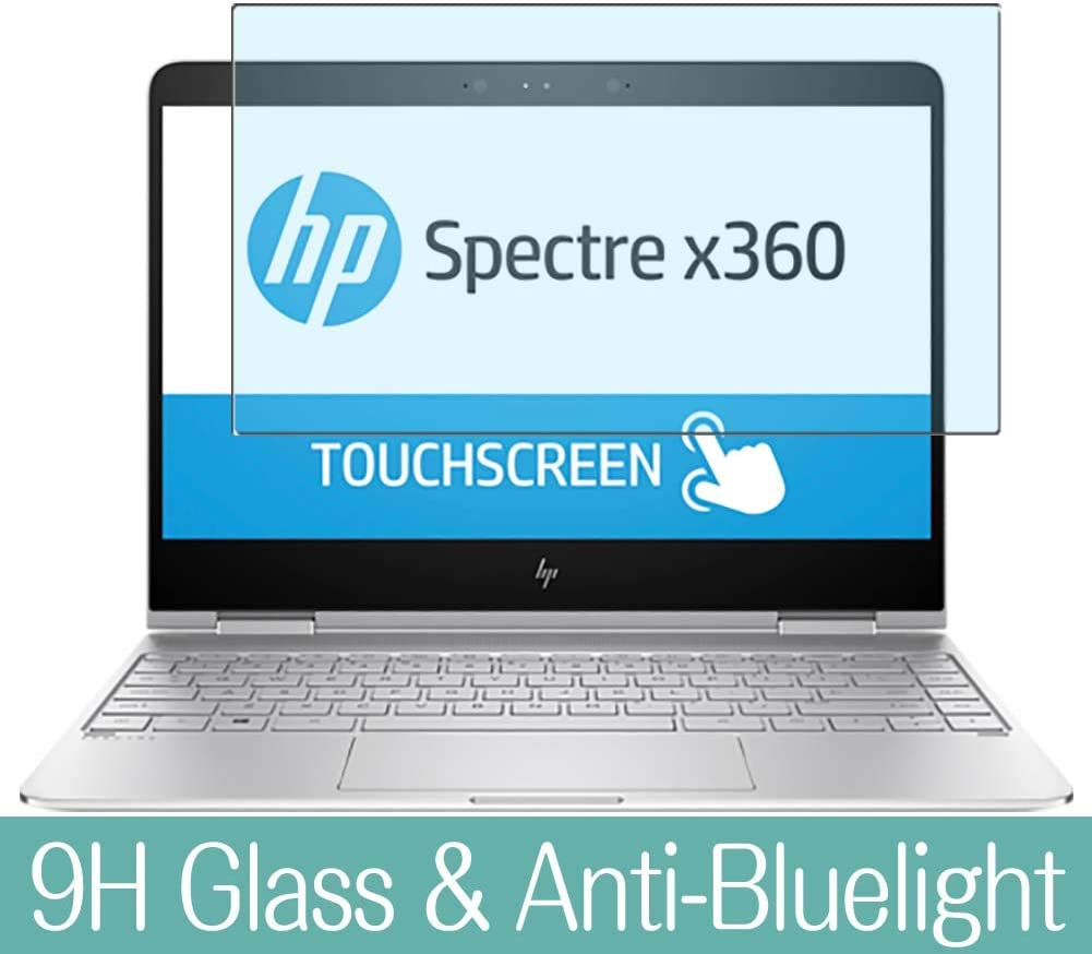 "Synvy Anti Blue Light Tempered Glass Screen Protector for HP Spectre x360 13-w000 / w063nr / w023dx / w013dx / w006tu / w011tu / w003nx 13.3"" Visible Area Screen Film Protectors"