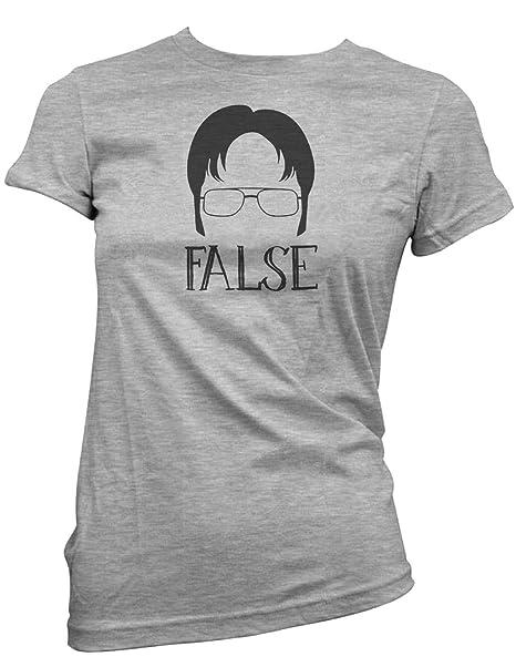 bc57a453d Amazon.com: Good Clothes Co Dwight Schrute False Women's Junior Fit Shirt:  Clothing