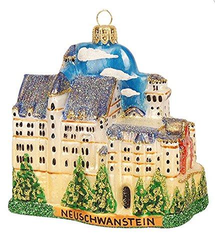 Neuschwanstein Castle Glass Christmas Ornament