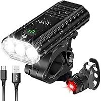 CHYBFU Cykelljus fram, uppladdningsbar USB-cykelljus med 1 800 lumen, 5 lägen, IPX6 vattentäta LED-cykellampor…