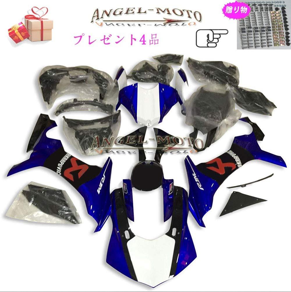 Angel-moto バイク外装パーツ 対応車体 Yamaha ヤマハ YZF1000 R1 2015 2016 YZF 1000 15-16 カウル フェアキット ボディ機械射出成型ABS樹脂 フェアリング パーツセット フルカウルセットの Y116   B07JH99HDT