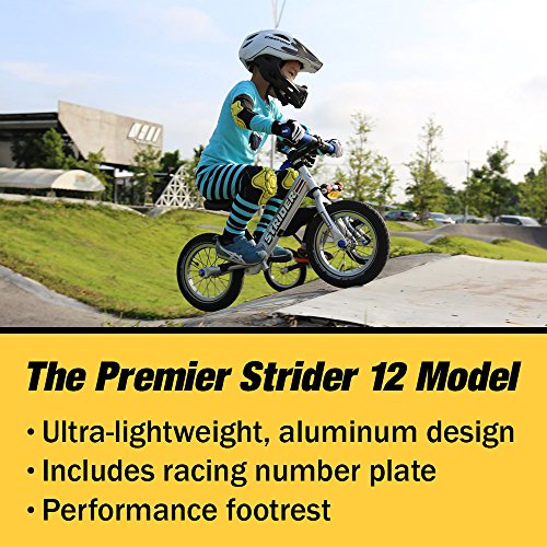 Strider - 12 Pro Balance Bike, Ages 18 Months to 5 Years, Silver by Strider (Image #2)