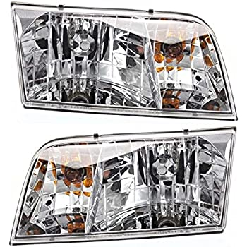 98-11 Ford Crown Victoria Left & Right Headlamp Assemblies (pair)