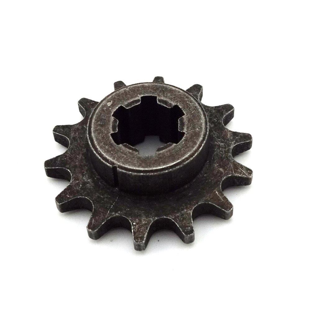 stoneder T8/F 14/dientes frontal tambor de embrague para Gear Box pi/ñ/ón de cadena pi/ñ/ón Gear para 47/cc 49/cc Minimoto chino Mini Dirt Bike