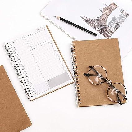 Amazon.com : 6 pcs/Lot Vintage agenda notebook Spiral daily ...