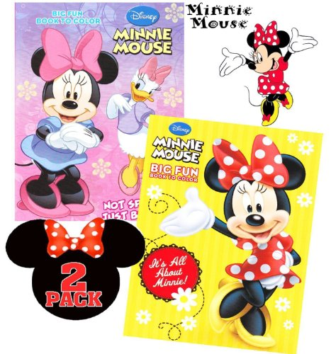 Disney Minnie Mouse Coloring Books - 2-pack (Minnie Mouse Coloring Book)
