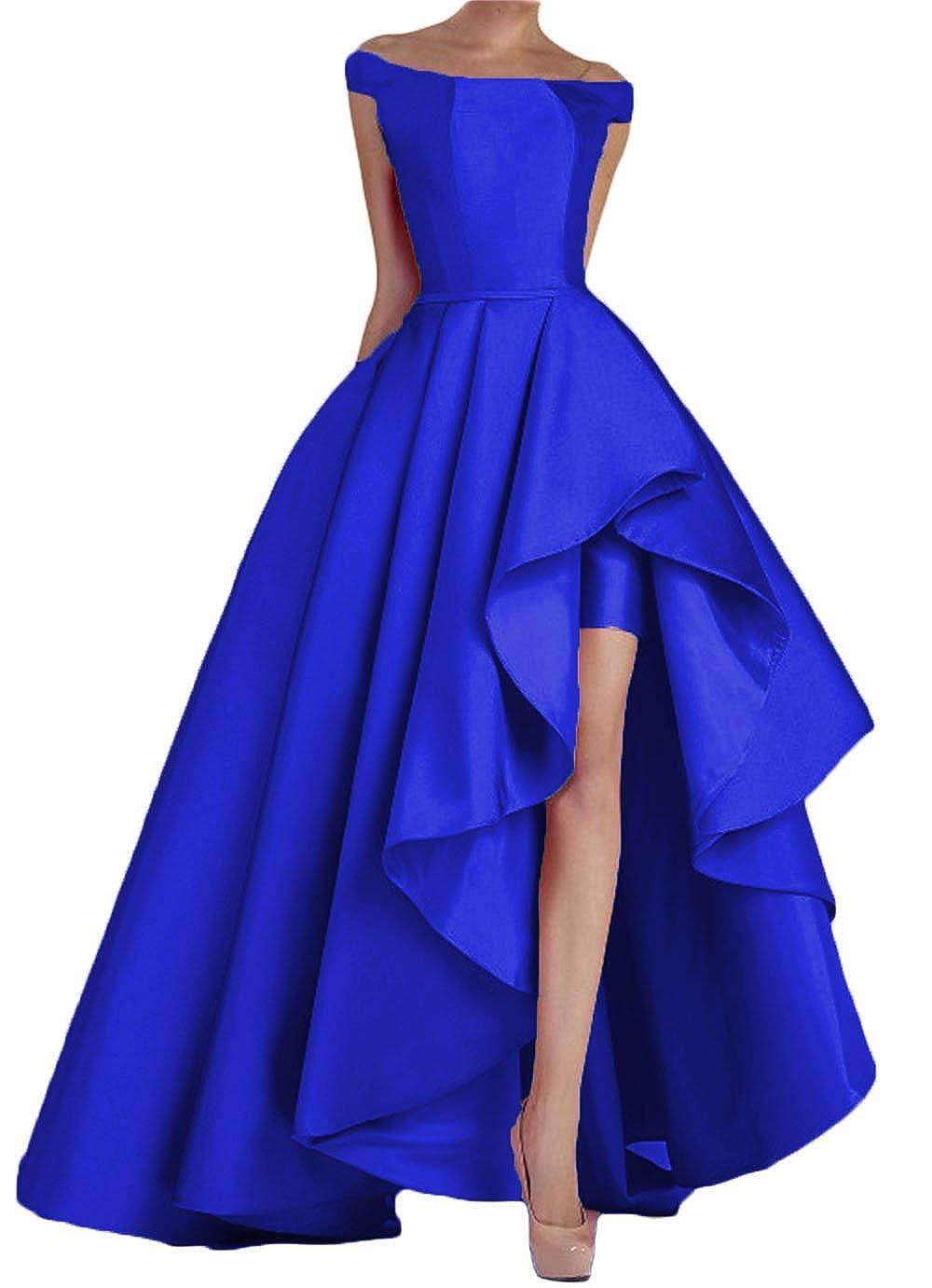 Royal bluee Dydsz Women's Off Shoulder Long Evening Prom Dresses Plus Size Formal Gowns D22