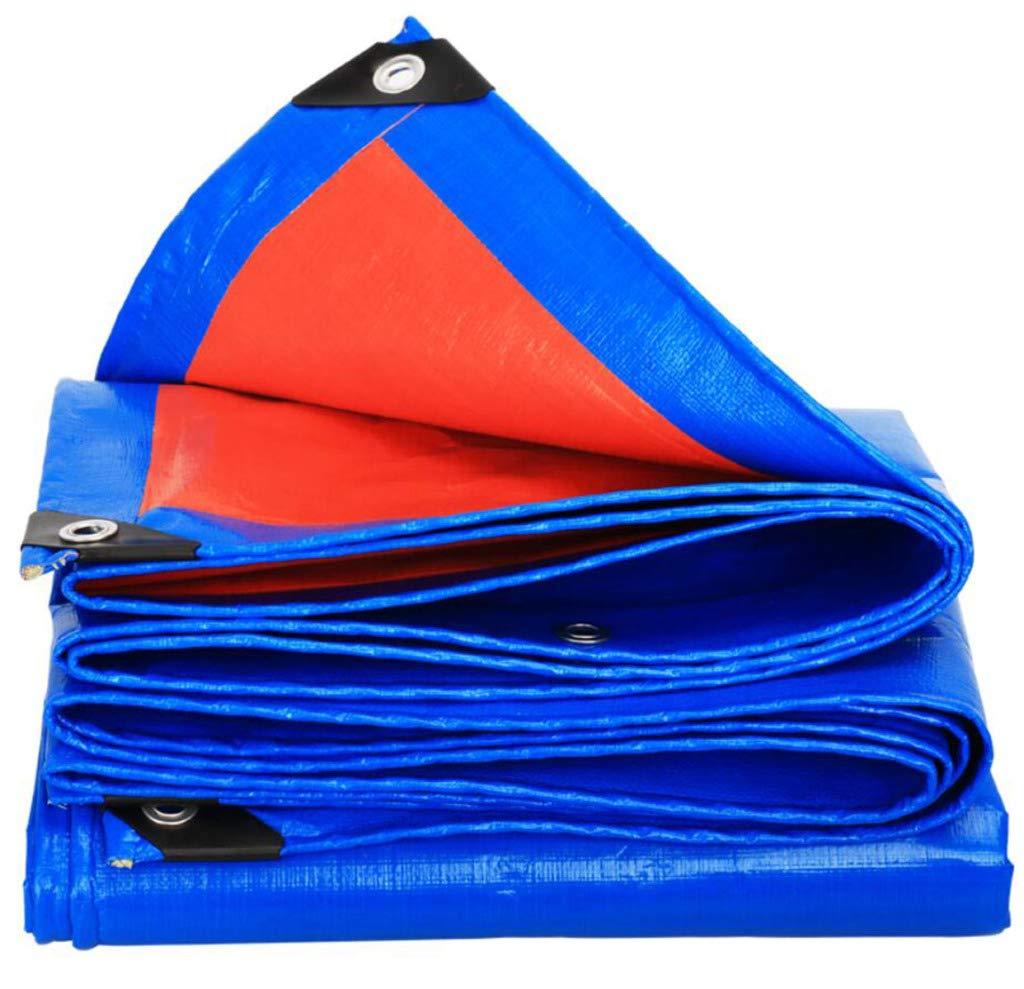 HSBAIS 頑丈な防水ターポリン、防水シートプロテクター多目的防水ポリタープカバー,Blue orange_6x10m B07PCH7WDY Blue orange 6x10m