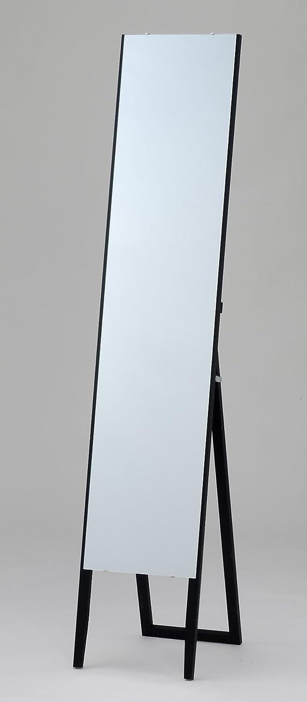 枠なし ノンフレーム スタイリッシュ スタンドミラー ブラック(黒) 全身鏡 幅30cm x 高さ150cm 飛散防止 シンプル ミラー 店舗 アパレル B07CF7ZYXNブラック