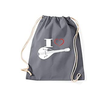 Camiseta stown Turn Bolsa Estimada I Love Mandolina, gris ...