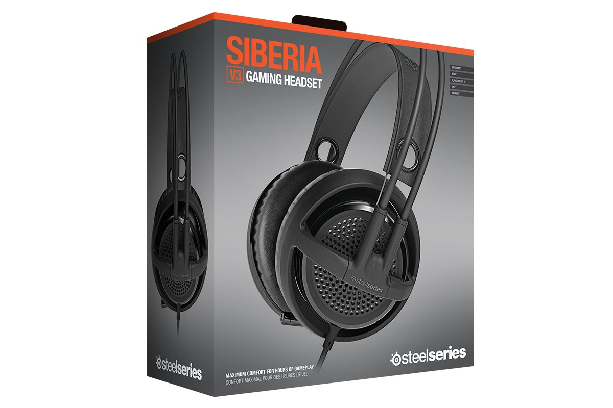 SteelSeries Siberia v3 Comfortable Gaming Headset - Black by SteelSeries (Image #1)