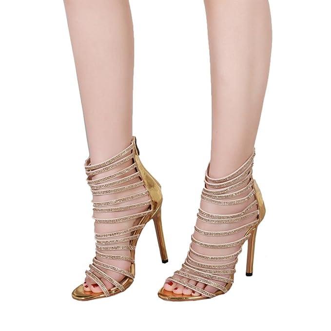 ZARLLE Zapatos Verano Sandalias Plataforma Toe Alto TacóN Casual Zapatos  Las Mujeres Sandalias De Tacon Fiesta 43f7dfce4663