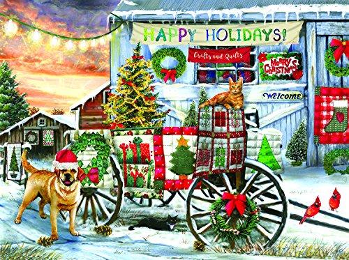 SunsOut Holiday Wagon 1000 Piece Jigsaw Puzzle