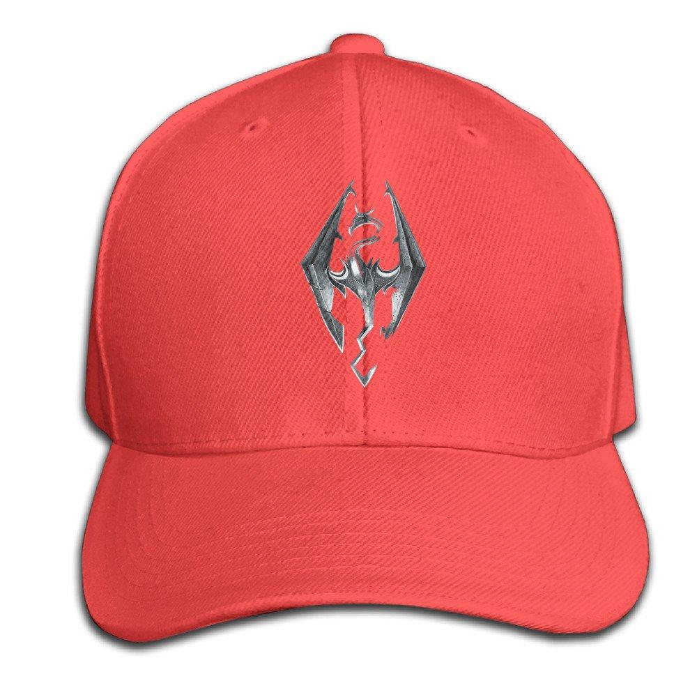 bcc232c7ff227 The Elder Scrolls V Skyrim Hats Adjustable Red Baseball Cap  Amazon.com   Books