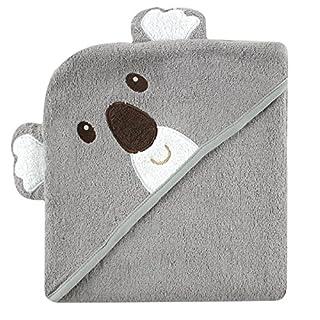 Luvable Friends Unisex Baby Cotton Animal Face Hooded Towel, Koala, One Size