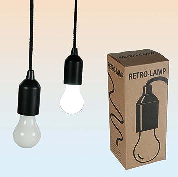 "LED Battery Operated Light ""Nostalgic Bulb"" (16cm) - 100cm Hanging  Cord"