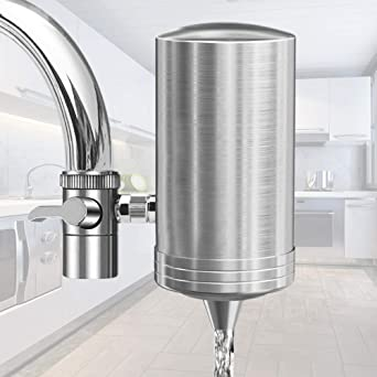 Lamcomt Childrens Faucet Extender Household Tap Water Purifier Carbon Faucet Extender Filter Remove Rust Suspended Kitchen Water Cleaner Water Filtration System