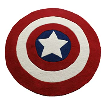 Amazon Com Kanglida Round Rugs Captain America Shield Carpet