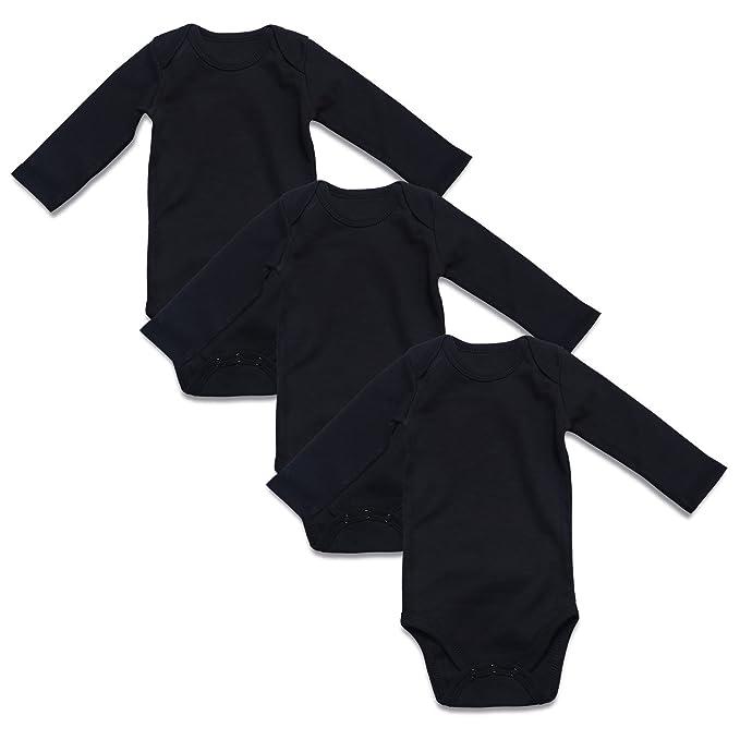 Amazon.com: ROMPERINBOX Body unisex para bebé, 100% algodón ...