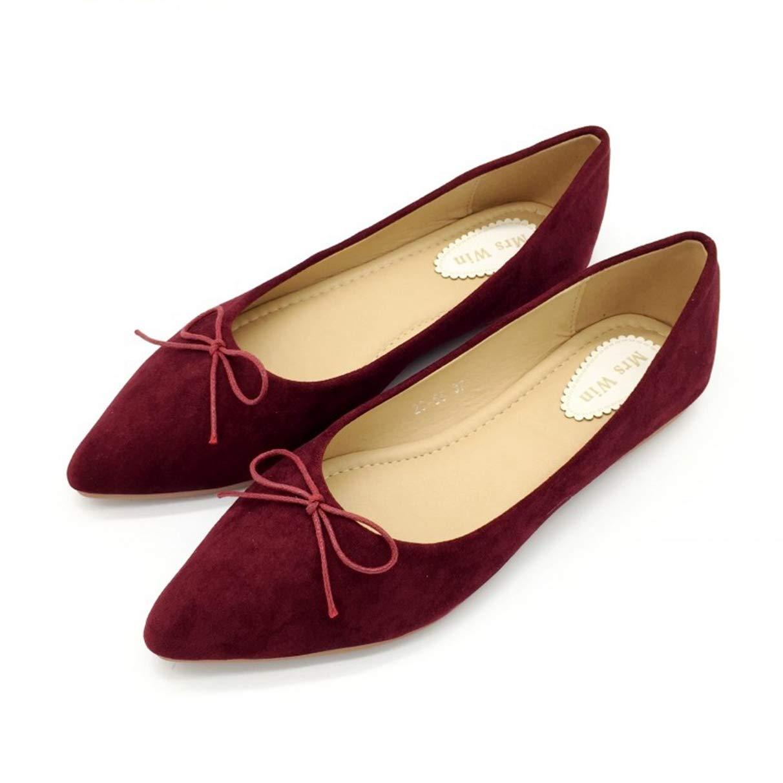 Owen Moll Women Flats, Sexy Red Black Butterfly-Knot Ballet Loafers Slip-On Single Shoes