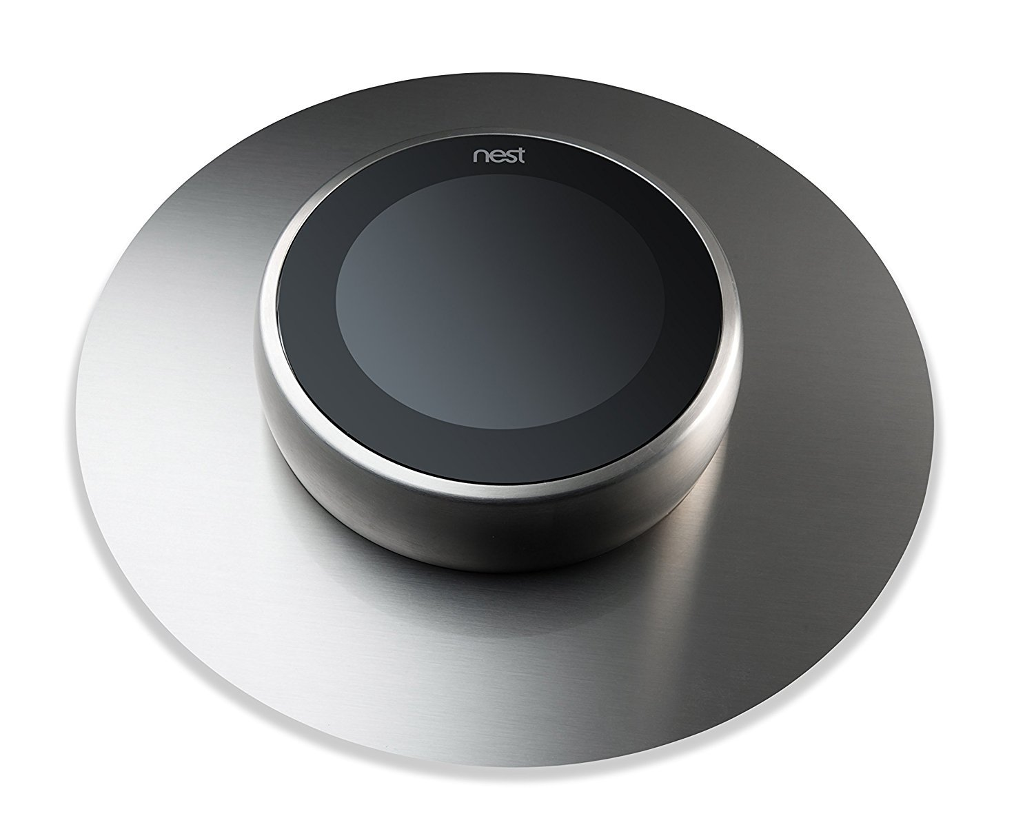 The Nest Décor NEST Thermostat Wall Plate Cover, NOT PLASTIC! HIGHEST QUALITY -- MADE IN THE USA -- Brushed Stainless Steel 6 inch backdrop for all Nest Thermostats. Beautiful & Stylish by