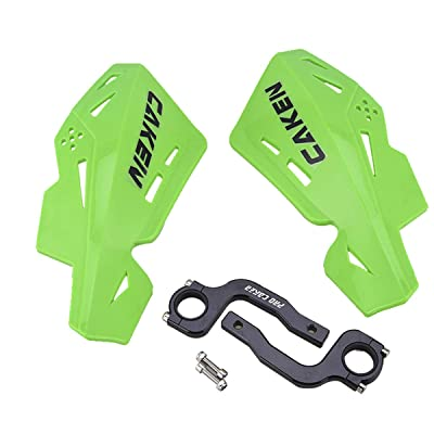 PRO CAKEN CNC Handle Bar Hand Guards Protector Dirt Bike Motocross ATV for SX SXF EXC XCW (Green): Automotive