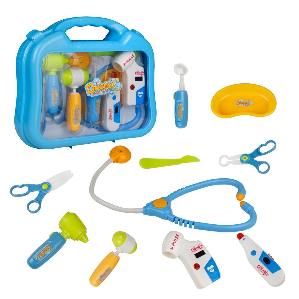 Akokie Doctors Kit, Medical Kit Box, Doctor Set for Kids, Doctor Role Play for Kids Children 3 4 5 6 Years Old, Randomly Deliveried BOHUA Plastic Toys Factory