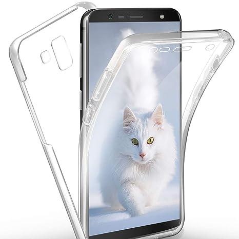 SpiritSun Funda para Samsung Galaxy J6 Plus 2018, Transparente Carcasa con 360 Grados Protector Silicona Case para Samsung J6 Plus 2018 Flexible Gel ...