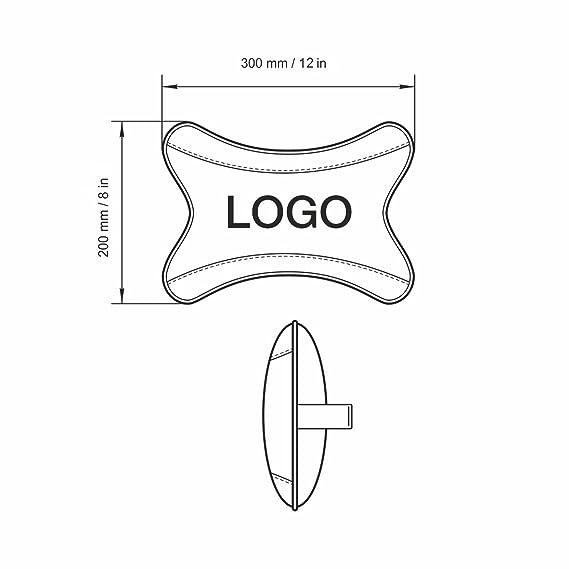 Amazon Com Beige Car Seat Neck Rest Pillow Pad Cushion Design