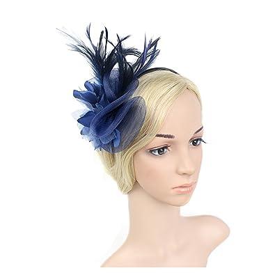 5378c9f8d4abc BL-JP ヘッドドレス カチューシャ コサージュチュール 羽 花嫁 花 ヘッドアクセ ウェディング 髪飾り