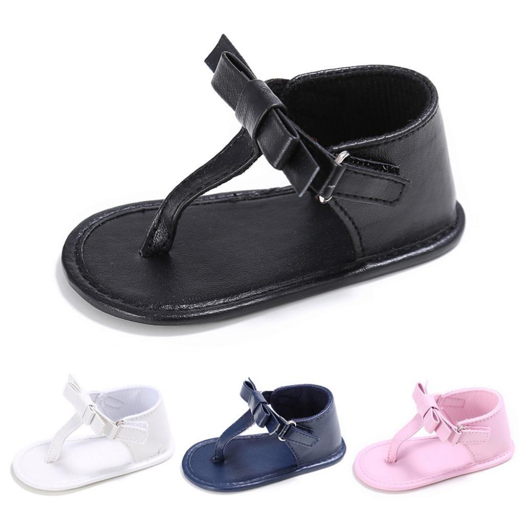 5050e10a9d53c Coloré TM Chaussures Bébé Fille Sandales Toddler Fille Crèche Chaussures  Nouveau-Né Fleur Doux Semelle Anti-Slip Bébé Sneakers Sandales  Amazon.fr   ...
