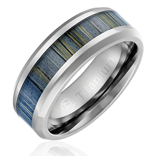 8MM Titanium Promise Engagement Rings For Men