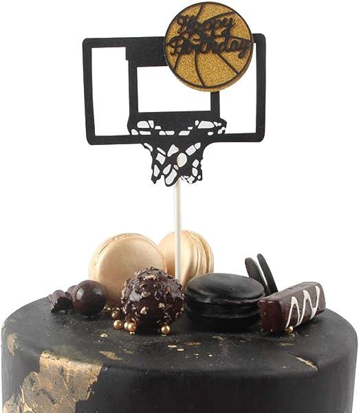 Decoración para tarta de cumpleaños, diseño de baloncesto con ...