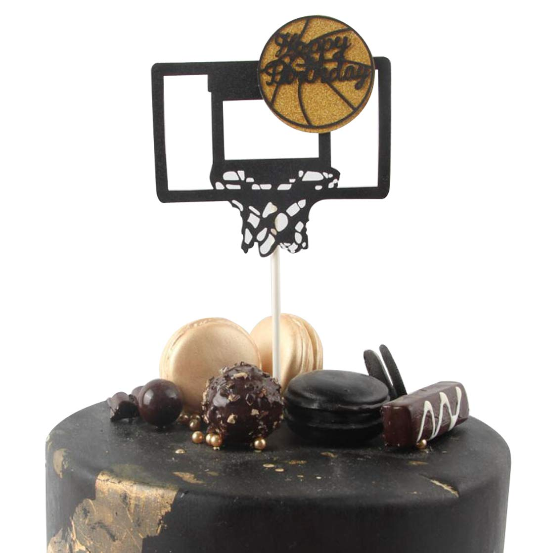 Sensational Basketball Hoop Happy Birthday Cake Topper Birthday Twinkle Diy Funny Birthday Cards Online Elaedamsfinfo