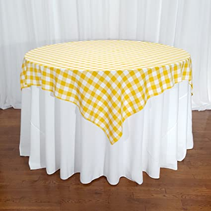 Sensational Amazon Com American Home Design Yellow And White Gingham Home Interior And Landscaping Ferensignezvosmurscom