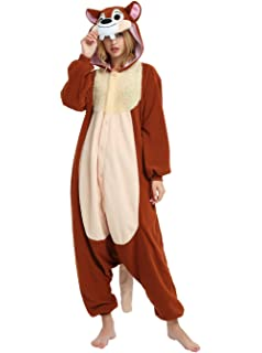 chip n dale chipmunk onesie for adults and teens halloween costumes for men
