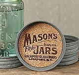 The Rusted Key Mason Jar Lid Coaster - Mason Jar Symbol (Set of Four)