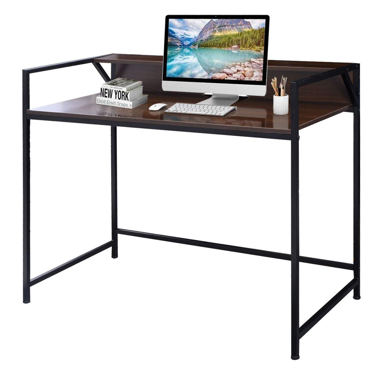 KING77777 Modern Simple and Unique Compact Design Simplistic Style Desk Computer Office Premium Quality Material Furniture by KING77777 (Image #2)