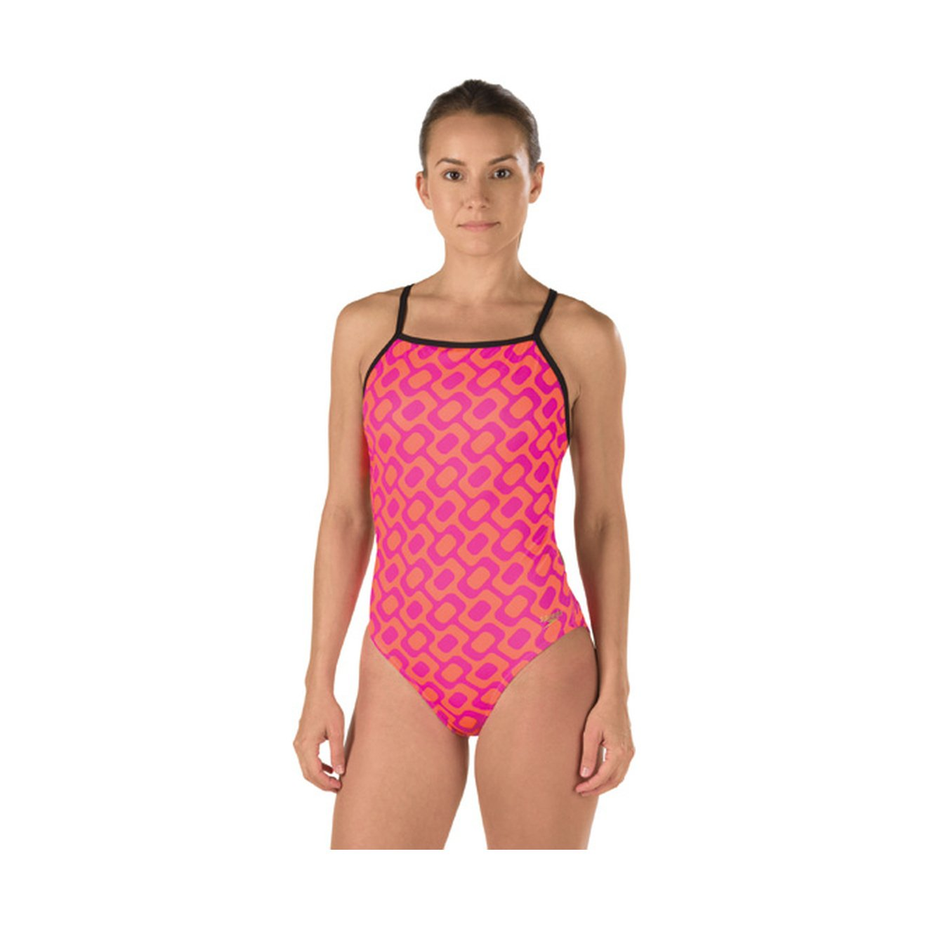 Speedo Women's Printed One Back Rio Americana One Piece Swimsuit