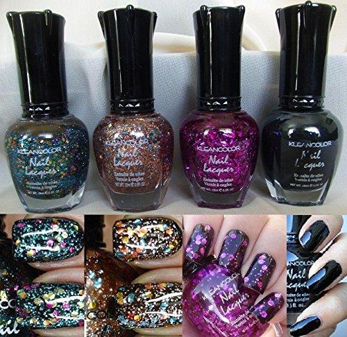 4-pcs-new-kleancolor-assorted-glitter-nail-polish-colors