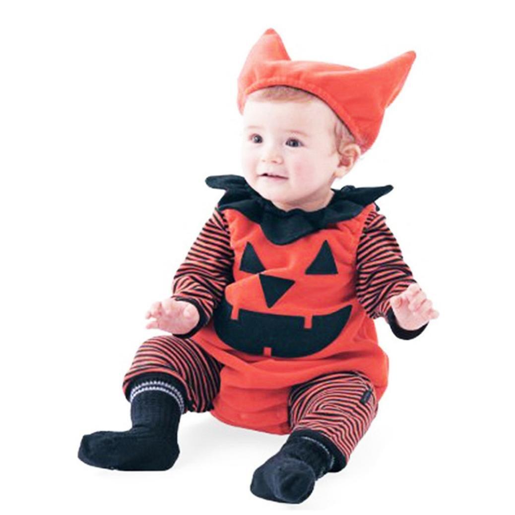 B/éb/é gar/çon Halloween Raisin potiron /à Rayures Nouveau n/é Outfits Costume IMJONO Fille Ensemble