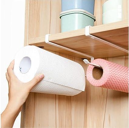 Alliebe 2pcs Paper Towel Holder Dispenser Under Cabinet Paper Roll Holder  Rack Without Drilling For Kitchen