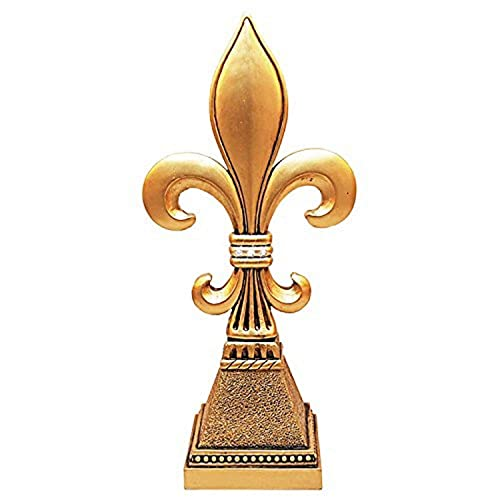 All For Giving 11 Tall x 5 Wide Antique Gold Fleur Statuette